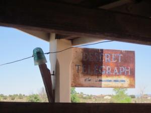 The Desert Telegraph (Photo: B. Kopp)
