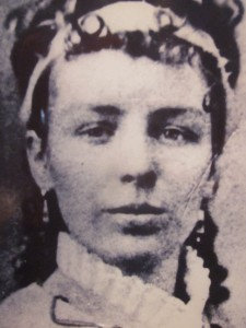 Interpretive panel photo of Ella Stewart - the first telegraph operator at Pipe Spring.